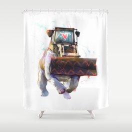 Dozer Bulldozer Shower Curtain
