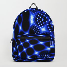 Neon blue glob fractal Backpack