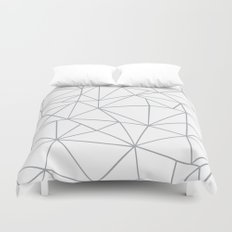 Ab Outline 2 Grey on White Duvet Cover