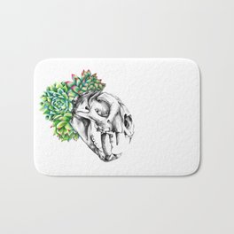 Rock Rose Cat Skull Bath Mat