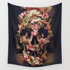 Jungle Skull Wall Tapestry