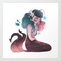 scorpio Art Prints featuring Scorpio by Laia™