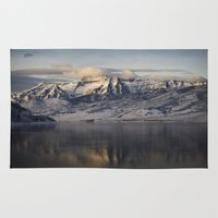 utah Area & Throw Rugs featuring Utah Sunrise by EslingerPhotography