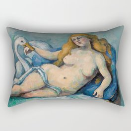Leda and the Swan, Paul Cezanne, 1880 Rectangular Pillow