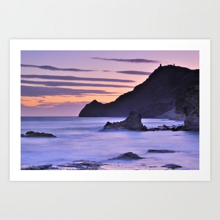 """""""Purple sea"""" Art Print"""
