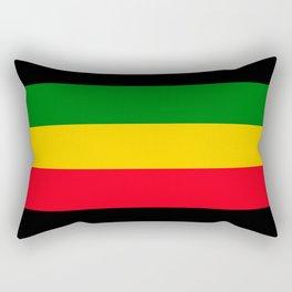 Rastafarian Colors Rectangular Pillow