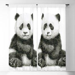 Panda Baby Watercolor Blackout Curtain