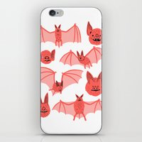 bats iPhone & iPod Skins featuring Bats by Jack Teagle