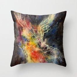 Deer constellation Throw Pillow