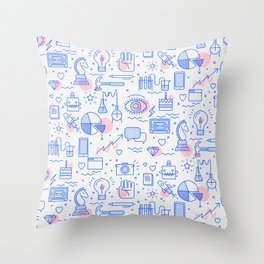 The fans pattern Throw Pillow