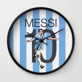 Lionel Messi Argentina 10 Print Wall Clock