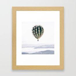 Flying Cactus Framed Art Print