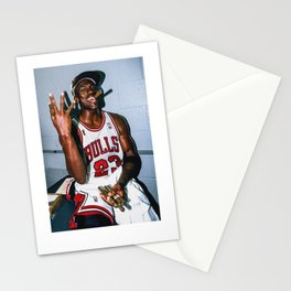 Vintage MJ Threepeat  Stationery Cards