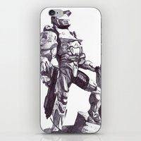 master chief iPhone & iPod Skins featuring Master Chief 117 by DeMoose_Art