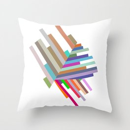 lines with triangles Throw Pillow