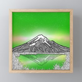 Mount Taranaki New Zealand Framed Mini Art Print