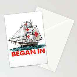 Native American Day Anti Columbus Day  Stationery Cards