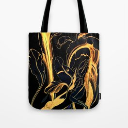Plant in Blue Marker - Leaf of Life Miracle Leaf - Black and Gold Tote Bag