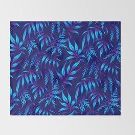 Brooklyn Forest - Blue Throw Blanket