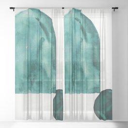 2     Abstract Geometric   191015 Sheer Curtain