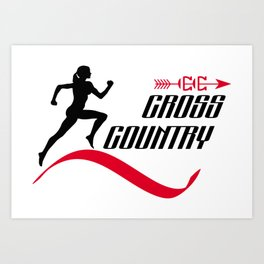 Cross country Art Print