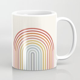 Minimalist colorful rainbow lines  Coffee Mug