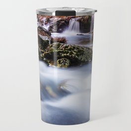Deep in the woods there was a magic river Travel Mug