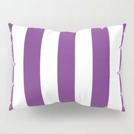 Maximum purple - solid color - white vertical lines pattern Pillow Sham