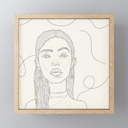 May B&W. Framed Mini Art Print