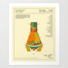 SPACE CAPSULE PATENT (1963) Art Print