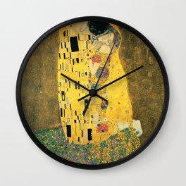 The kiss (1907-8) Gustav Klimt Wall Clock