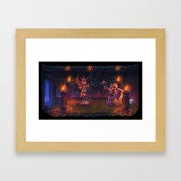 Banjo-Kazooie Mumbo's hut painting.  Framed Art Print