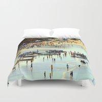 rowing Duvet Covers featuring Rowing Regatta by Chris' Landscape Images & Designs