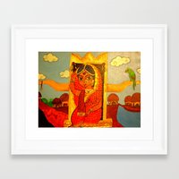 bride Framed Art Prints featuring Bride by Sreetama Ray