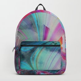 pastel geometrical asbtract Backpack