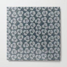 Flores abanico étnico Metal Print