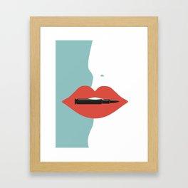 Bite the bullet Framed Art Print