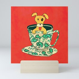 Dinnerware Sets - puppy in a teacup Mini Art Print