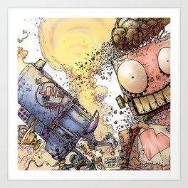 LOVE ME LIKE A PSYCHO ROBOT Art Print