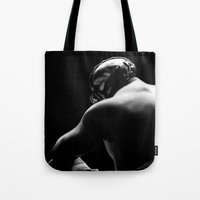 bane Tote Bags featuring Bane by Silverback Design