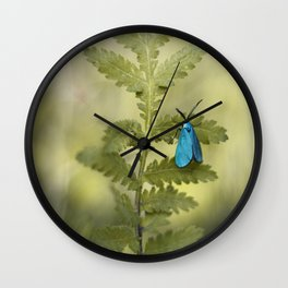 Forester Moth Wall Clock