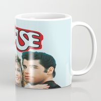 grease Mugs featuring Grease  by Dora Birgis