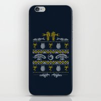 xenomorph iPhone & iPod Skins featuring A Christmas Bug Hunt by Stationjack