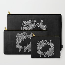 Black White Koi Minimalist Carry-All Pouch