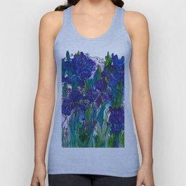 Blue Irises Unisex Tank Top