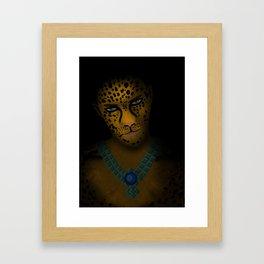 preHispanic Warrior Framed Art Print