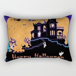 Halloween Haunted House Rectangular Pillow