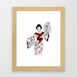 Sakura Geisha Framed Art Print
