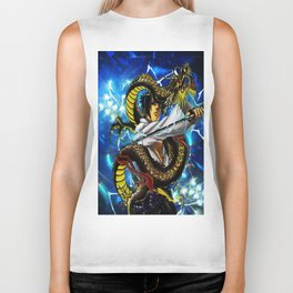 the dragon uciha Biker Tank