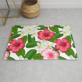 Tropical Flower Pattern Rug